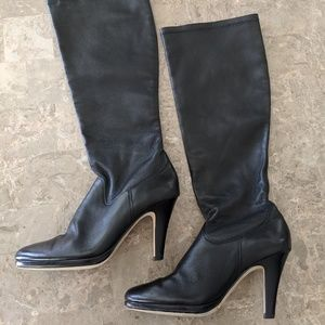 Cole Haan Nike Air Tall Heeled Pull On Boots 6